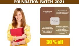 GENERL STUDY PRE-CUM MAIN FOUNDATION BATCH ENGLISH MEDIUM FOR CSE 2021 & CSE 2022